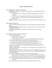 Chapter 2 Management Notes