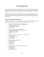 final exam review sheet m l Cpe physical science semester 2 final exam review 2013-2014 instructions for using this review sheet: this review sheet is divided into chapters with the pages covered in each chapter listed because we did not cover all parts of all chaptersthe important vocabulary is listed for each chapter.