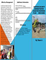 Disaster Response Plan Brochure (1)