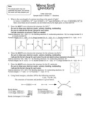 Sample Exam II Solutions Versions 1 2 3 and MC(1)