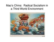 Lecture 13 Mao's China--Radical Socialism in a Third World Environment pdf version