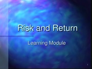 RISK AND RETURN CH10