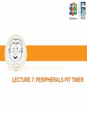 Lecture 07 - Peripherals Timer.pptx