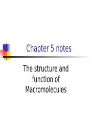The Structure and Function of Macromolecules.ppt