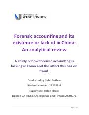 Forensic accounting and its existence or lack of in China adjusted most recent.docx