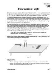 28 Polarization of Light
