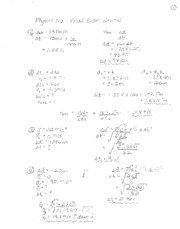 Physics 20 Review Solutions