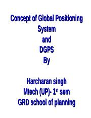 Concept of Global Positioning System.ppt