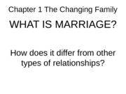 Chapter 1 The Changing Family