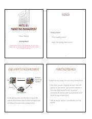 MKTG 101 - Marketing Research handouts