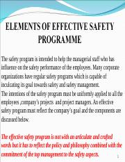 SAFETY MGMT 1