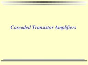 lesson 11 2010 cascaded transistor amplifiers with activities