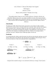 physics 1301 w lab report During the course of this lab, we gained familiarity in working with vector quantities we demonstrated the process of the addition of several vectors to form a resultant vector experimentally, graphically, and algebraically.