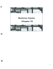 Class Note Business Cycles