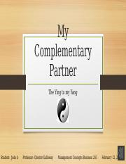 Complementary Partner Assignment 2