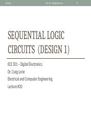 Lecture 20 - Sequential Logic Circuits (Design 1)