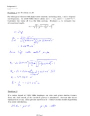 PHYS 454 HOMEWORK 6 SOLUTIONS