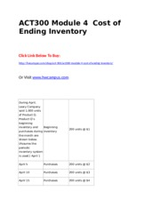 ACT300 Module 4  Cost of Ending Inventory.doc