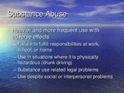 Substance use slides