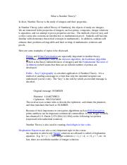 What is Number Theory.doc