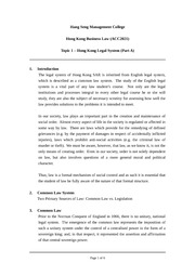 W01 Lecture Note HK Legal System Part A