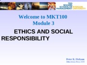 M3 Ethics and Social Responsibility