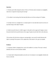 JJAY CUNY Physics Chapter 4 Homework Questions and Problems