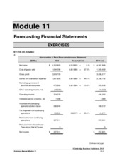 Solutions to Module 11 Exercises and Problems