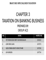 Chapter 3 Taxation Of Banking Business Pptx Bkat 3033 Specialised Taxation Chapter 3 Taxation On Banking Business Prepared By Group A 2 No Name Matric Course Hero