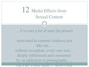 Chapter 12 - Media Effects from Sexual Content