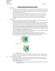 Lab Report: Diffusion and Osmosis Part I, II and III.docx