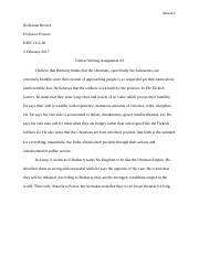 Critical Writing 2