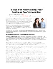 4 Tips For Maintaining Your Business Professionalism.docx