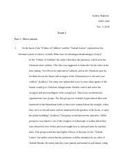 History of the Middle East Exam 2.docx