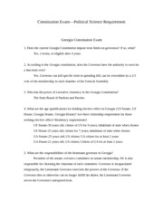 Constitution Exam Study Guide
