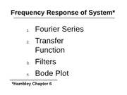 ME340 MECHANTRONICS_Chapter 6 - Frequency Response