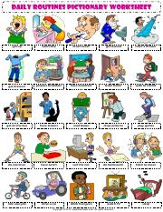 daily routines 1 pictionary poster vocabulary worksheet.pdf