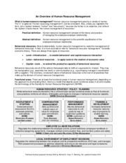 Handout-HRM Overview