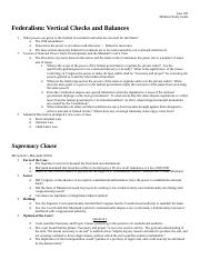 Law 201 Midterm 2 Study Guide