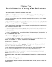 Chapter Four - Terrain Generation