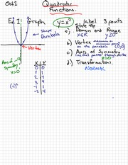 Graphing Quadratic Notes