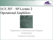 ECE 307 SP Lecture 2 OpAmps