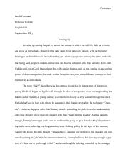 """Growing Up"" English Essay .docx"