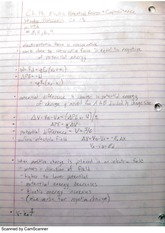 Capacitance and Electric Potential Energy Notes