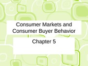 ch 5 Consumer Markets and Consumer Buyer Behavior