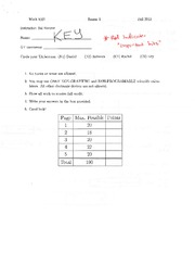 Exam 1 Solution on Calculus 1