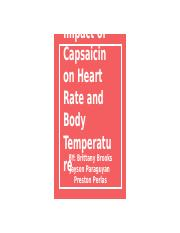 Impact of Capsaicin on Heart Rate and Body Temperature