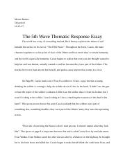 The 5th Wave Thematic Response Essay.docx
