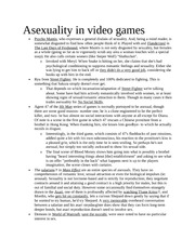 Asexuality in video games