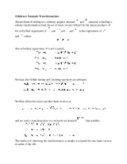 Arbitrary Amounts Transformations notes